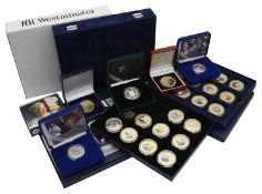 Royal Mint - A collection of silver and other Royal commemorative proof coins