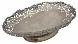 A George V silver pedestal fruit dish