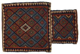 A Persian tribal flatweave salt bag