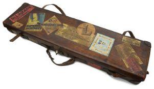 A tan leather gun case