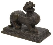 A 19th century Chinese bronze figure of a Kylin