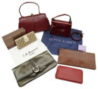 An interesting collection of designer and luxury wallets, bags etc...