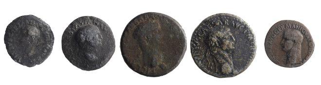 Drusus Julius Caesar AE As. Rome, Restitution issue struck under Titus, 80-81 ADDRVSVS CAESAR TI AVG