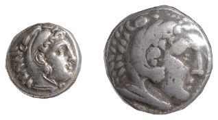 Macedon Alexander III Silver Tetradrachm336-323 BCHead of Herakles facing right, wearing a lion-skin