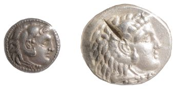 Alexander III Silver TetradrachmKition, 336-323 BCHead of Herakles facing right, wearing a lion-skin
