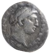 The Seleucid Kingdom, Demetrios I Soter Silver Tetradrachm 162-150 BC. Diademed head right within