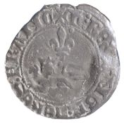 FRANCE, ANGLO GALLIC, HENRY V (1413-22), BILLON NIQUET, 1421F billon niquet or leopard, (1421),