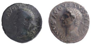 Divus Augustus AE As first, Rome, Struck under Tiberius, 31-37 AD.DIVVS AVGVSTVS PATER, radiate head