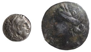 Thrace, Lysimachos Silver Drachm305-281 BCHead of Herakles right, wearing lion skin / Zeus