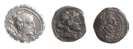 Ti. Claudius Ti.f. Ap.n. Nero AR Serrated Denarius. 79 BC. Diademed and draped bust of Diana