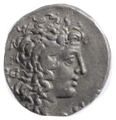 Macedonian, Aesillas as Quaestor Silver Tetradrachm c. 95-70 BCdiademed head of Alexander the