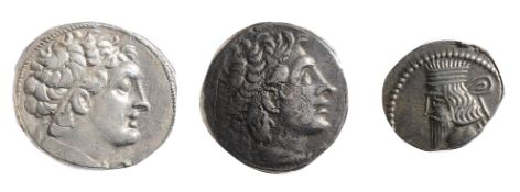 Ptolemaic Kingdom, Ptolemy XII Silver TetradrachmAlexandria, 80-58 BCDiademed head of Ptolemy I