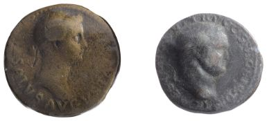 Livia AE Dupondius.Rome, Struck under Tiberius, 22-23 AD.SALVS AVGVSTA, Bare-headed and draped