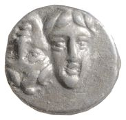 Northern Greece, Thrace Istros Silver Stater 400-350 BCTwo young male heads facing, side by side,
