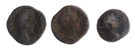 Marcus Aurelius AE SestertiusRome, Struck under Commodus, 180 AD.DIVVS M ANTONINVS PIVS legend