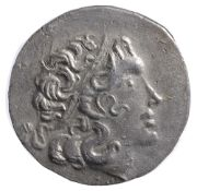 Thrace, Byzantion Silver Tetradrachm2nd Century BCDiademed head of deified Alexander III right /