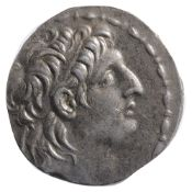 The Seleucid Kingdom, Antiochos VII Euergetes Silver Tetradrachm138-129 BCDiademed head of Antiochos