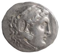 Pamphylia Silver Tetradrachmc. 3rd century BCHead of Herakles right, wearing Lion skin / Zeus