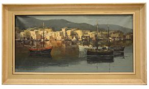 W Herzog (20th century cont.) 'Fishing boats in harbour',oil on canvas