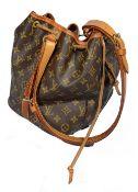 A Louis Vuitton bucket bag