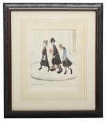 Laurence Stephen Lowry, RBA, RA, (Brit.1887-1976) 'The Family', print