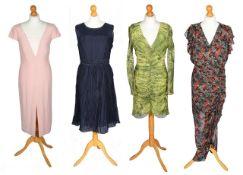 A collection of designer dresses