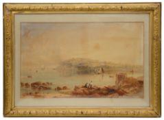 British School, (19th century) 'Landscape with lake scene',watercolour
