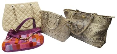 A collection of designer bags