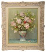 Marcel Dyf (Fr. 1899-1985) 'Roses and Anemones (still life of vase with flowers)'