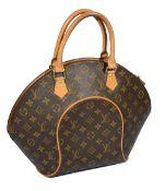 A Louis Vuitton brown vintage monogram Ellipse PM top handle bag