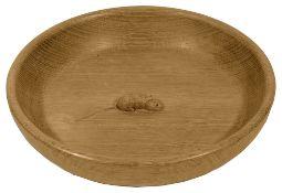 A Robert 'Mouseman' Thompson oak fruit bowl,