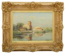 Pelletier (French, late 19th to early 20th c) 'Picardy', oil on canvas