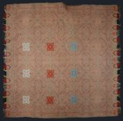 A Victorian Paisley turnover double sided shawl c.1865-70
