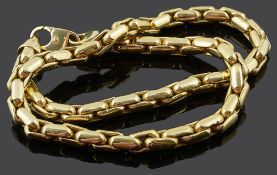 A heavy Continental 18ct gold chain necklace