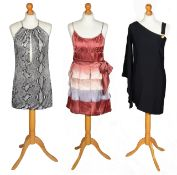 A Gucci dress together with Versus by Gianni Versace and Matthew Williamson dresses