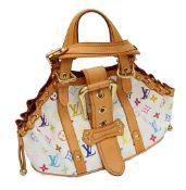 A Louis Vuitton white multicoloured Theda GM top handle bag