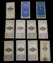 A collection of early 20th century London Underground Tramways maps