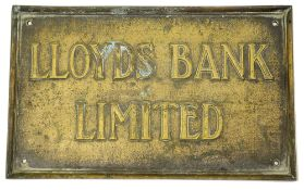 A Lloyds Bank and a National Provincial Bank bronze sign,