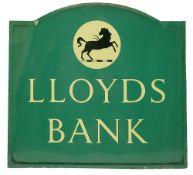 A Lloyds Bank enamel sign