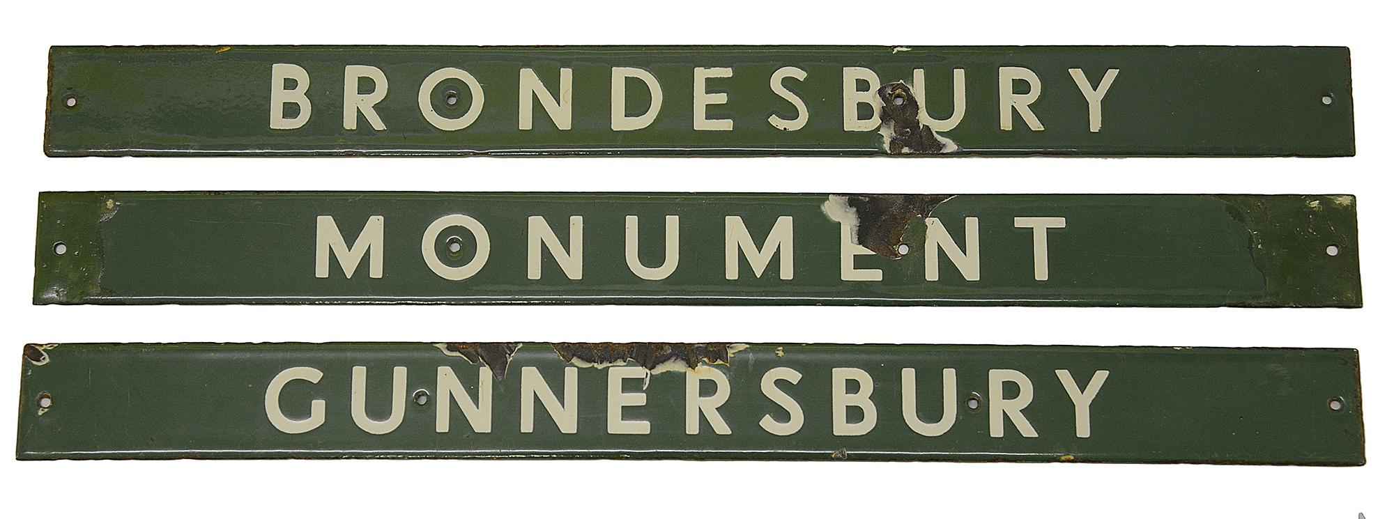 Four London Underground enamel destination plates for the District line, - Image 2 of 4