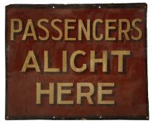 An early 20th century hand painted railway sign
