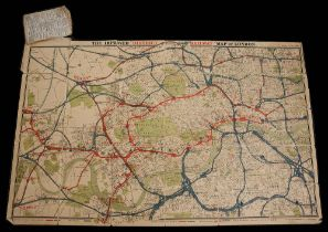 The Improved District Railway Map of London, 1882