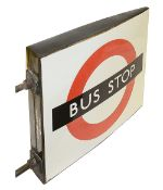 A London Transport enamel Bus stop flag