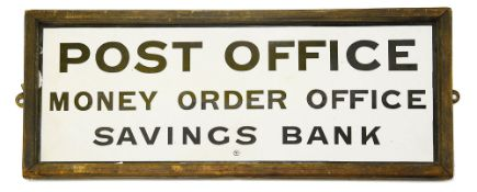 A Post Office framed enamel sign