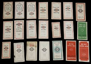 A collection of late 1920s and 1930s London General maps