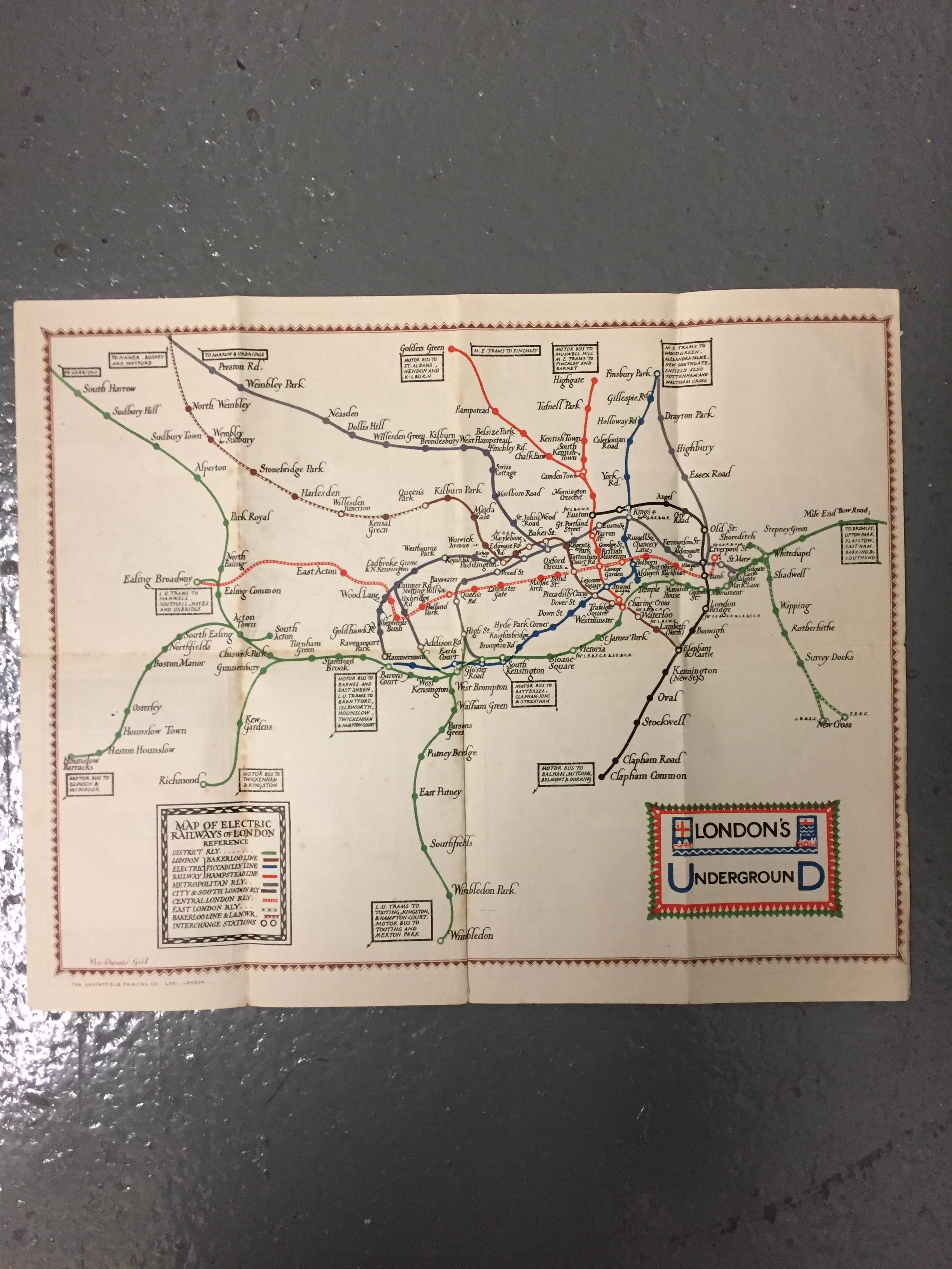 Nine 1910/20s folding pocket maps for London transport,comprising a 1916 General Omnibus Map of some - Image 3 of 15