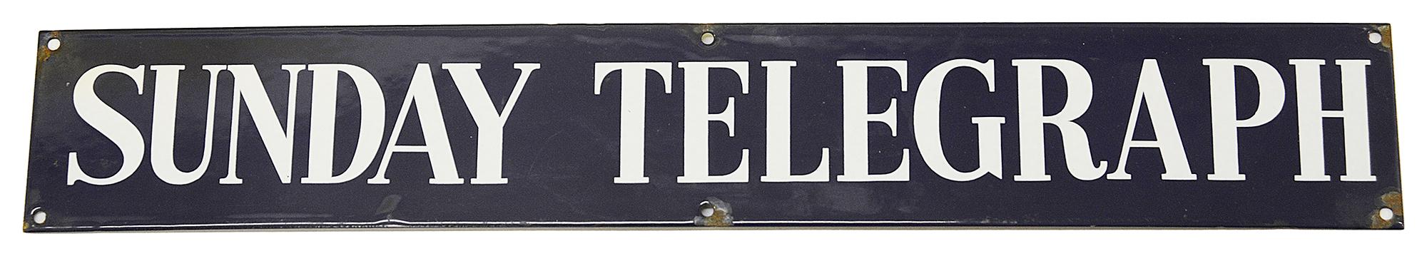 A Sunday Telegraph enamel sign