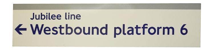 A London Underground enamel direction sign Jubilee line