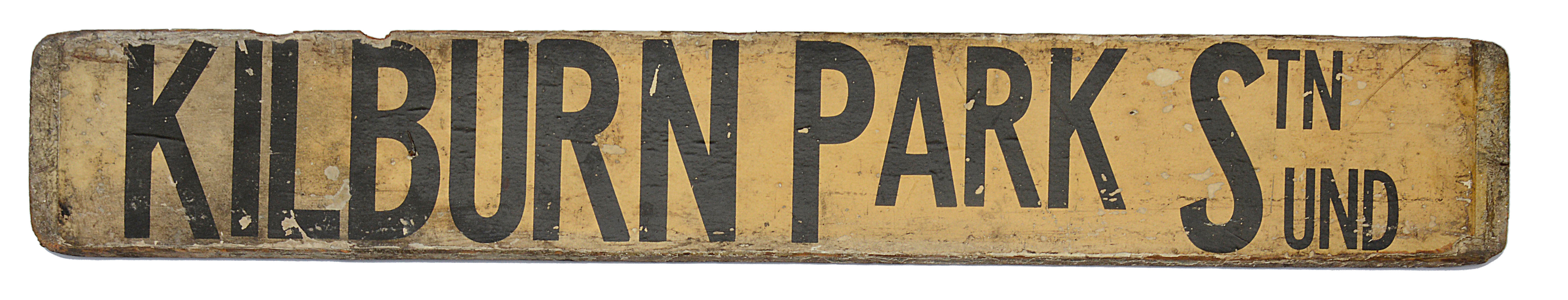 Three double sided wooden destination signs - Image 4 of 8