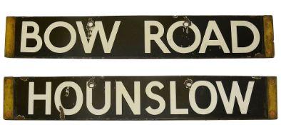 A London Underground enamel cab destination plate for HOUNSLOW